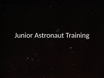 Junior Astronaut Training - The Solar System Part 1