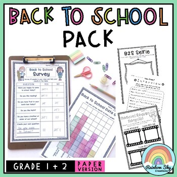 Junior Back to School Pack - K to 2 {NO PREP}