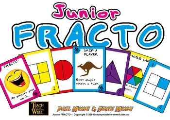 Junior Fracto - Fraction Card Game - 66 playing cards