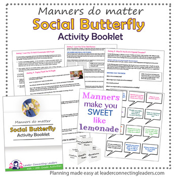 Junior Girl Scout Social Butterfly Badge Complete Booklet