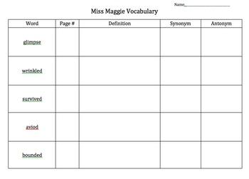 Junior Great Books Series 2 Book 1 Vocabulary Charts