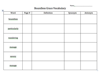 Junior Great Books Series 3 Book 1 Vocabulary Charts