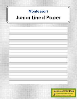 Junior Lined Paper