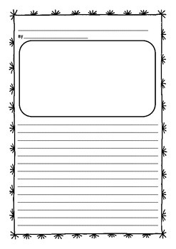 Junior writing publishing sheets with picture space (writi