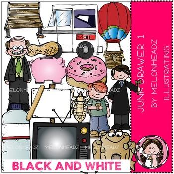 Melonheadz: Junk Drawer clip art Part 1 - BLACK AND WHITE