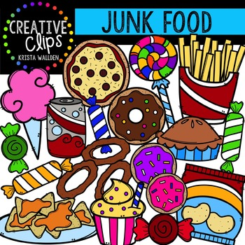 Junk Food {Creative Clips Digital Clipart}