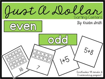 Just A Dollar- even or odd numbers and equations