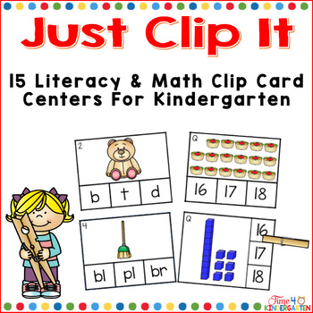 Just Clip It - Clip Card Centers for kindergarten