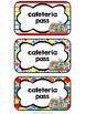 """Just Colors"" Hall Passes"
