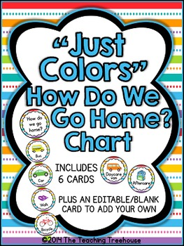 """Just Colors"" How Do We Go Home? Clip Chart"