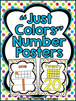 """""""Just Colors"""" Number Posters"""