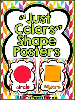 """Just Colors"" Shape Posters"