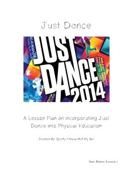 Just Dance Lesson Plan