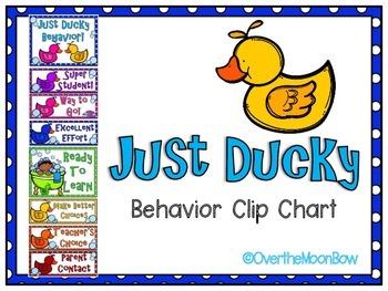 Just Ducky Themed Behavior Clip Chart