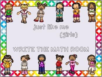 Just Like Me {Girls} Write the Math Room