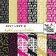 Just Love Digital Papers Set #1