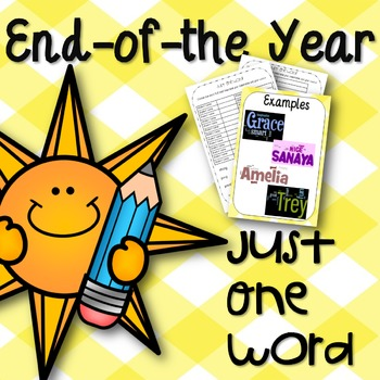 Just One Word-End of the Year