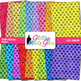 Polka Dotted Paper Clip Art {Scrapbook Backgrounds for Tas