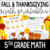 Just Print! Fall and Thanksgiving Themed Common Core Print