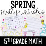 Just Print! Spring Themed Common Core Printables {5th Grade Math}
