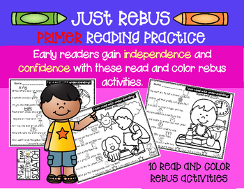 Just Rebus - Primer Sight Word Edition