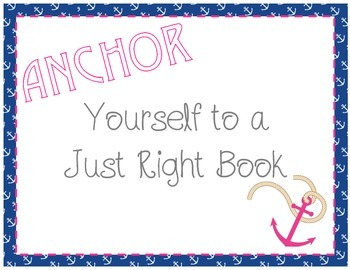 Just Right Book Poster-Freebie!