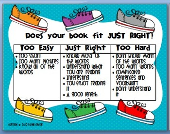 Just Right Books Poster and Bookmarks