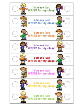 Just WRITE for my class pencil tags FREEBIE