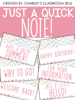 Just a Quick Note | Water Color