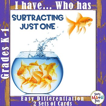 Subtraction: One Less Than