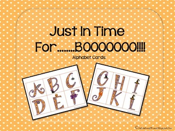 Just in Time for.... BOO!!! Alphabets Cards
