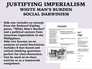 Justifying Imperialism - White Man's Burden/Social Darwini