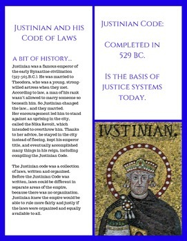 Justinian and his Code: A primary source group activity