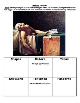 Juxtapose This! Art and literature analysis activity of ju