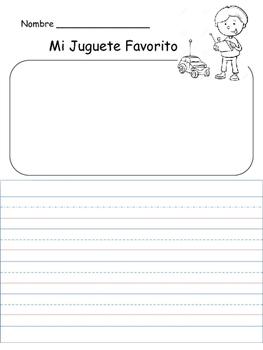 """K-1 Escritura - """"Mi Juguete Favorito"""""""