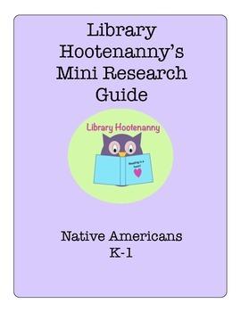 K-1 Native American Tribe Research Graphic Organizer
