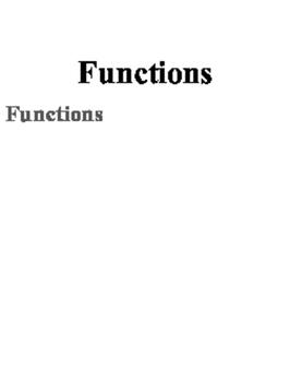 K-12 Functions Proficiency Scales (0-4)