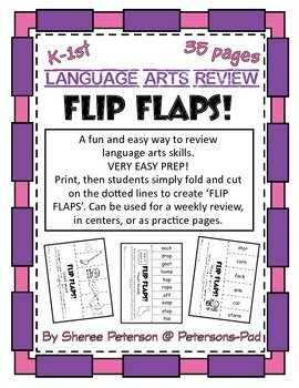 K-1st Language Arts Review with FLIP FLAPS