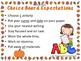 K-1st Spelling Choice Board (October)