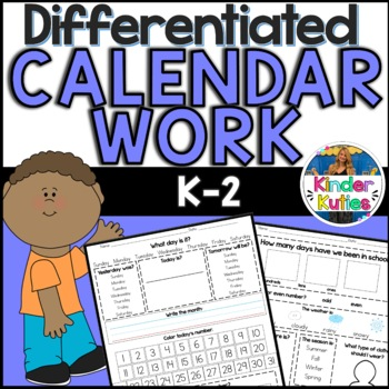K-2 Differentiated Calendar Work for Morning Meeting & SMA