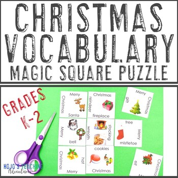 FREE Christmas Vocabulary Literacy Center Game