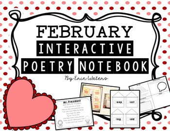 K-2 February Interactive Poetry Notebook {With Original Poems!}