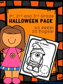 Halloween Math and Halloween ELA Printables for Grades 1-3