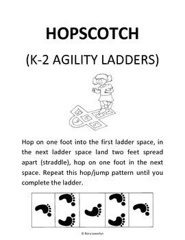 K-2 Hopscotch (Agility Ladder)
