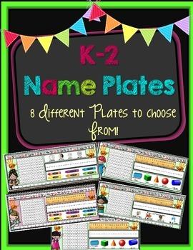 K-2 Name Plates