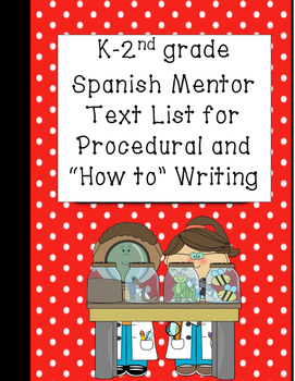 K-2 Spanish Language Procedural and How to Writing Mentor