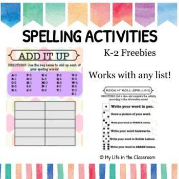 10 K-2 Spelling Activities {FREEBIE!}