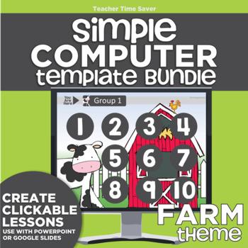 K-2 Technology Computer Lab Lesson Plans: Farm Simple Comp