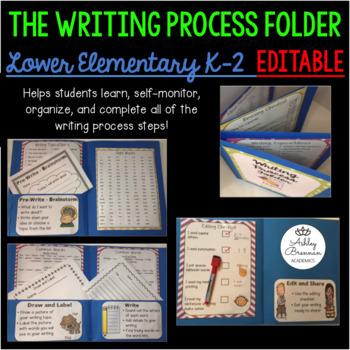 K-2 The Writing Process Folder, Classroom Posters, and Wri