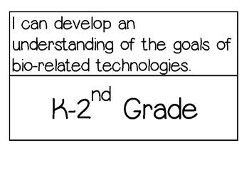 Technology I Can Statements (Benchmarks) Ohio K-2